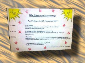 Gatersleben Martinstag Martinsumzug Flyer