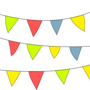 Sommerfest Fest der Vereine Gatersleben Wimpelkette