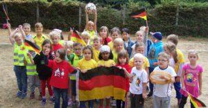 """Kinderfußball- WM in der Kindertagesstätte """"Sonnenschein"""" in Gatersleben"""