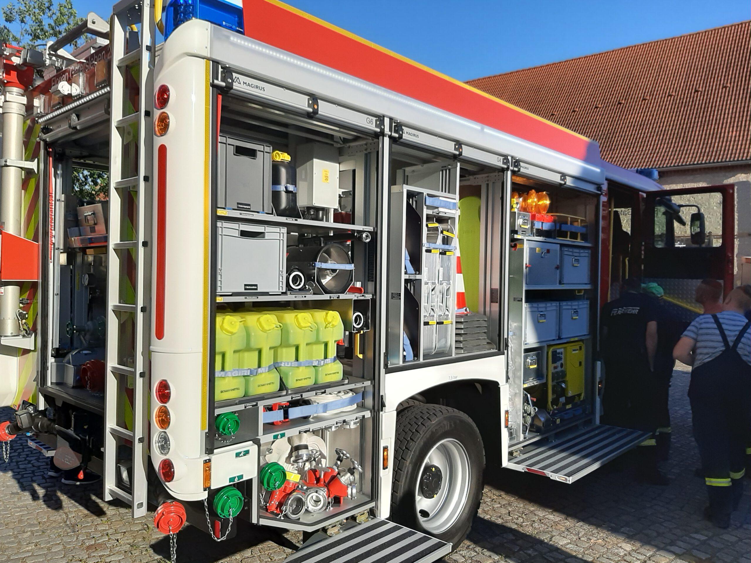 Neues Tanklöschfahrzeug (TLF 3000) in Gatersleben eingetroffen – Florian Gatersleben (Bildergalerie)