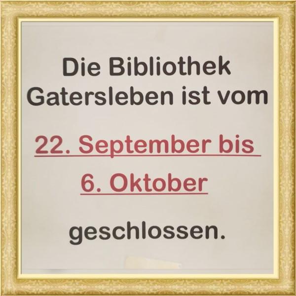 Read more about the article Die Stadtbibliothek schließt für 2 Wochen ab Ende September 2020