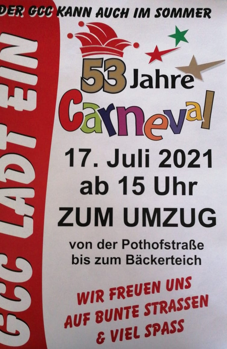 Read more about the article 53 Jahre Carneval – Der GCC kann auch im Sommer