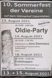 Read more about the article Programm 10. Sommerfest der Vereine vom 13.-15.8.
