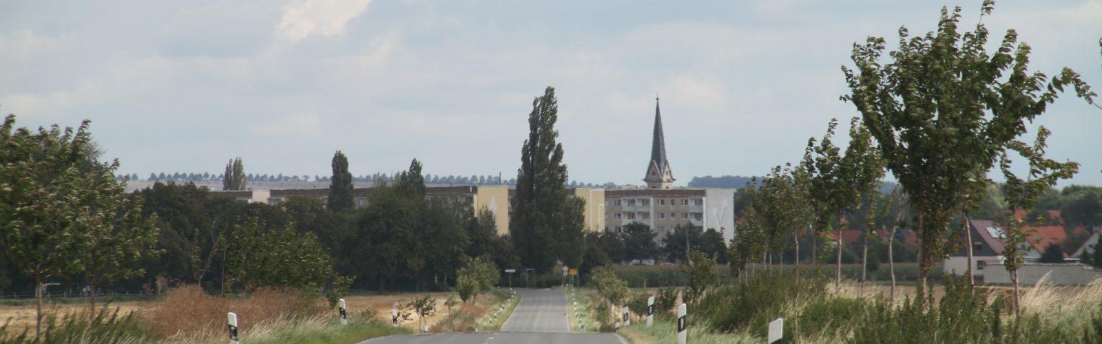 Ortseingang aus Richtung Quedlinburg